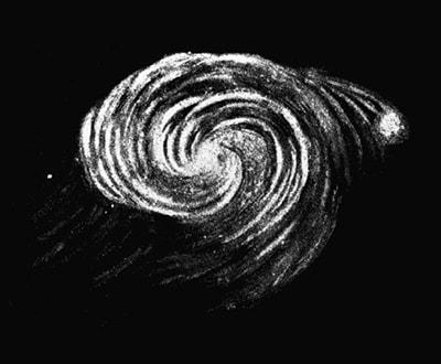 حرکات چرخشی آسمان شب پرستاره