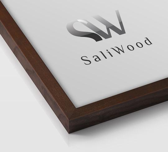 قاب چوبی سالی وود با رنگ شکلاتی