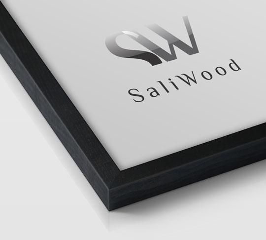 قاب چوبی سالی وود با رنگ زغالی