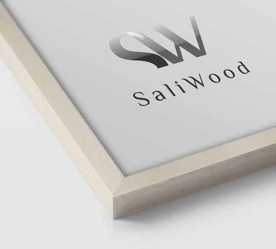 قاب چوبی سالی وود با رنگ سفید