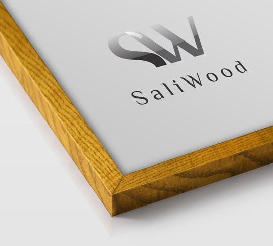 قاب چوبی سالی وود با رنگ قهوه ای دودی