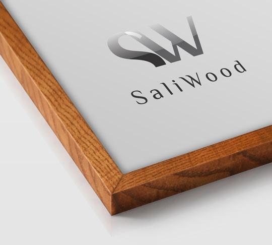 قاب چوبی سالی وود با رنگ قهوه ای سرد