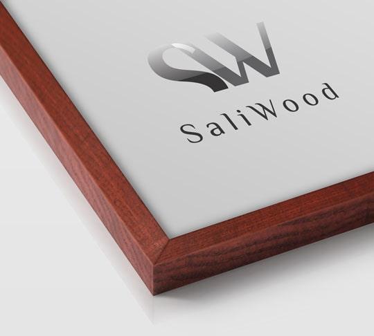 قاب چوبی سالی وود با رنگ ماهگونی