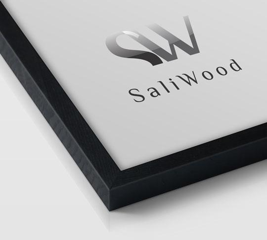 قاب چوبی سالی وود با رنگ مشکی