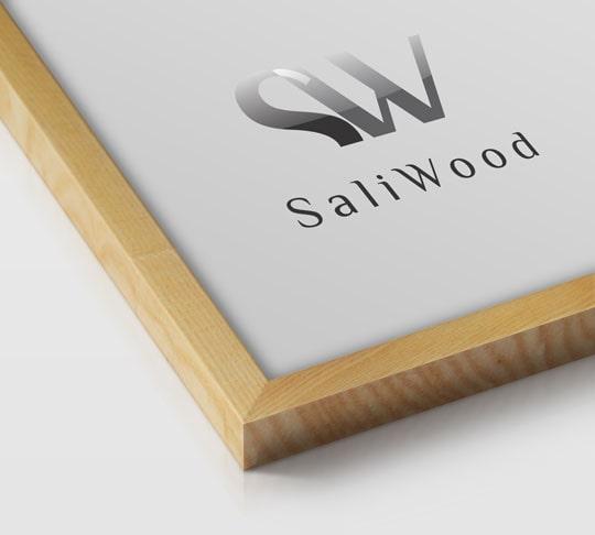 قاب چوبی سالی وود با رنگ گندمی